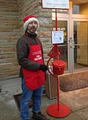 Ringing the Salvation Army Bell